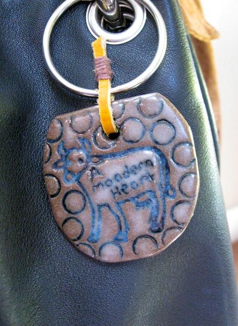 """A Moodern Heart"" pin, pendant and bag tag"